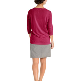 VAUDE Skomer 3/4 T-Shirt Women, crimson red